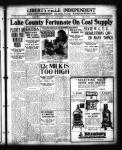 Lake County fortunate on coal supply. Plenty on hand for winter needs.