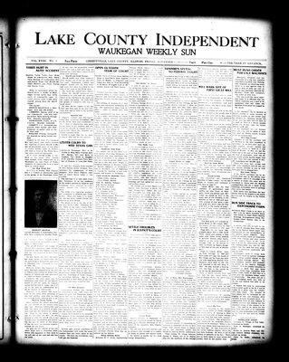 Lake County Independent and Waukegan Weekly Sun, 5 Nov 1909