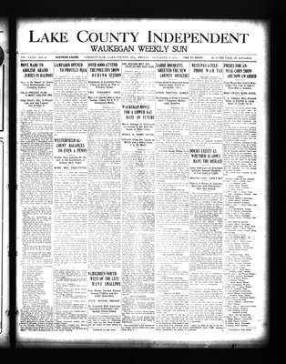 Lake County Independent and Waukegan Weekly Sun, 11 Dec 1914
