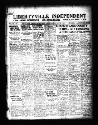 Libertyville Independent (Libertyville, Lake County, Ill.: W.J. Smith), 3 Jan 1918