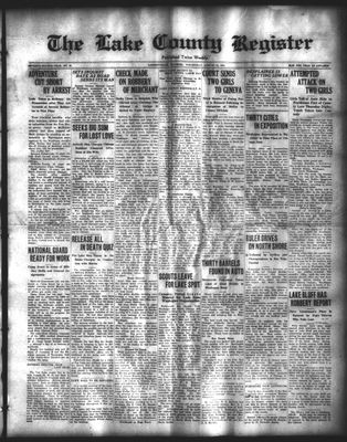 Lake County Register (1922), 13 Aug 1924