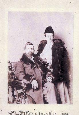Fred Dent et sa femme Sarah Maude Imlay