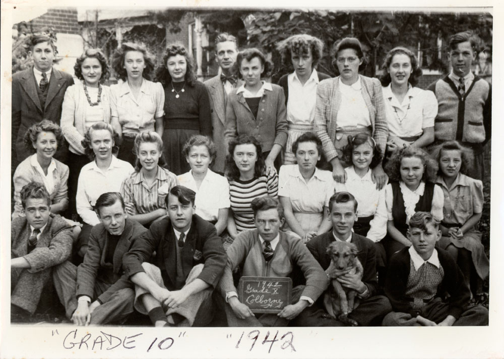 Colborne High School, 1942, Grade 10