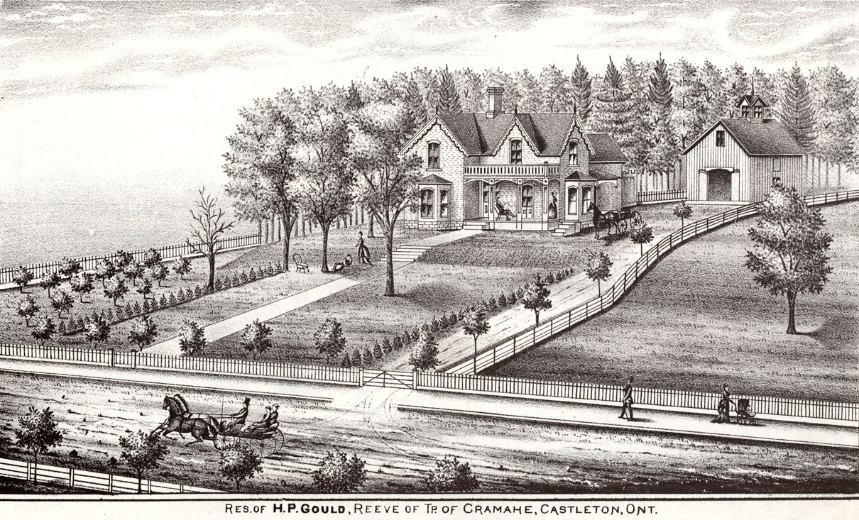 H.P. Gould house illustration, Castleton, Illustrated Historical Atlas
