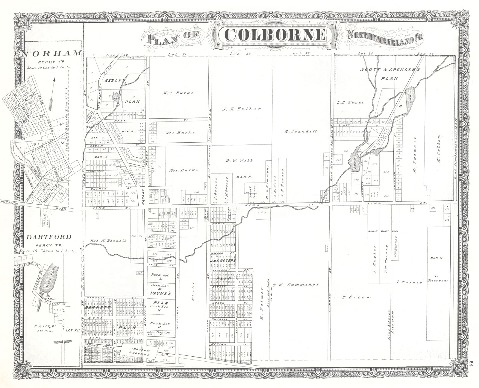 Colborne Map, Illustrated Historical Atlas