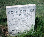 Ozen Keeler Strong and Annie Elizabeth Merriman headstone, Lakeport cemetery, Cramahe Township