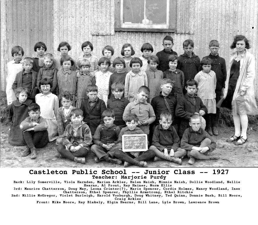 Castleton Public School, 1927
