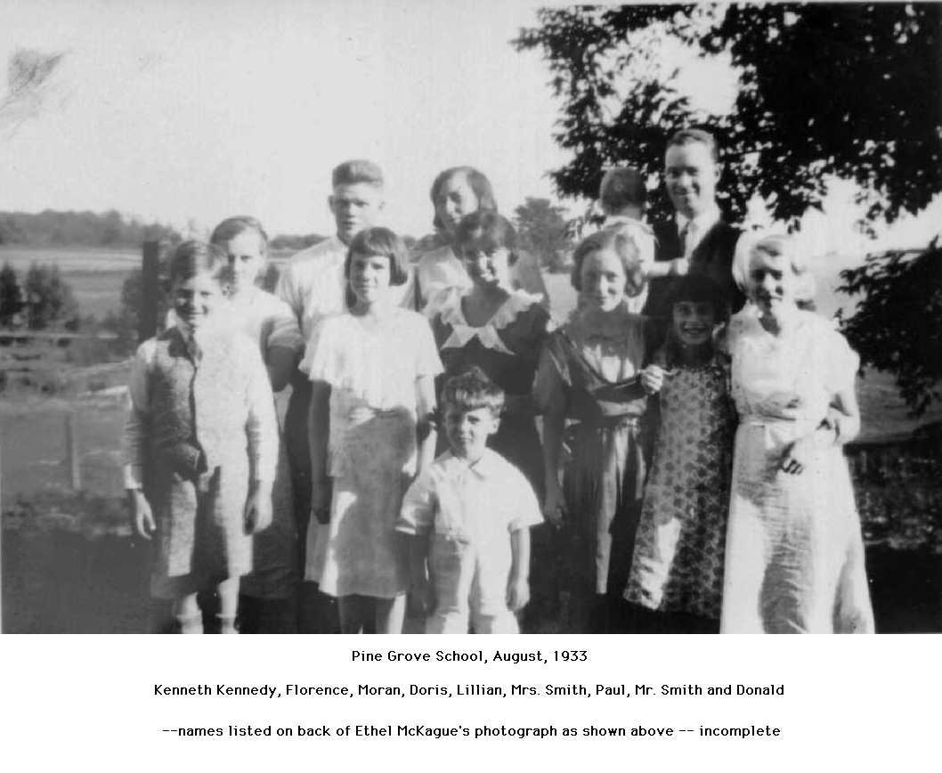 Pine Grove School, August 1933