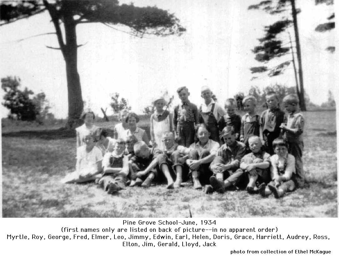 Pine Grove School, June 1934