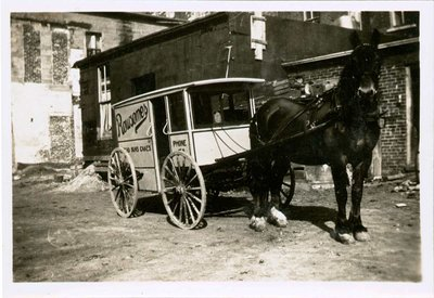 Rowsome's Bakery horse drawn wagon, Colborne