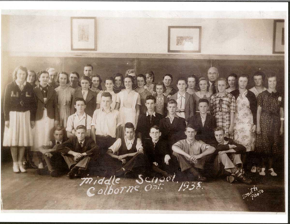 Middle School, Colborne, Ontario, 1938