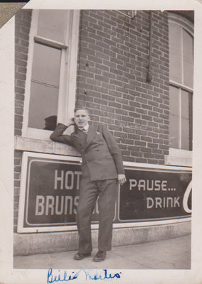 Photograph of Billie Martin, Brunswick Hotel, Cramahe Township