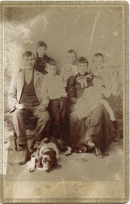 Family portrait with dog, Castleton, ca.1890