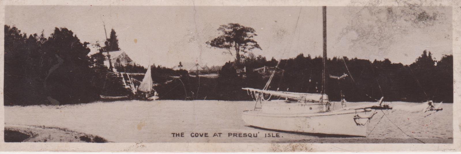 Book postcard of The Cove at Presqu'isle