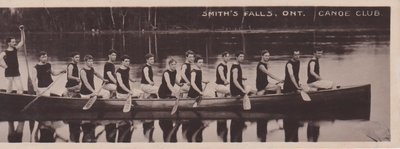 Book postcard of Smith's Falls Ont. Canoe Club