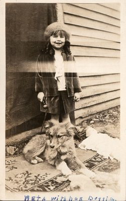 Reta Turpin with her dog, Turpin Family Photograph Album