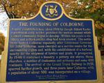 The Founding of Colborne, Ontario Heritage, Colborne, Cramahe Township
