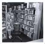 Myrtle Ducie, President, Castleton Women's Institute, at Castleton Public Library, Cramahe Township