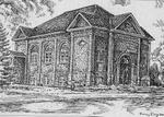 Sketch of the former Castleton Town Hall