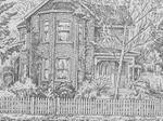 Sketch of King Street East residence, Colborne