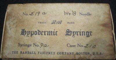 Syringe equipment, Griffis Drug Store, Colborne, Cramahe Township