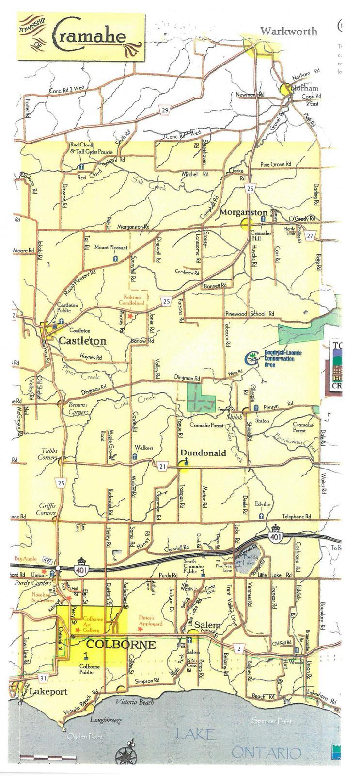Cramahe Township map, exhibit