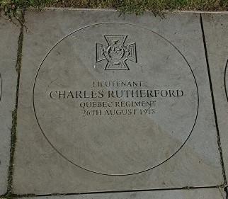 Charles Rutherford Victoria Cross Memorial stone, National Memorial Arboretum, Stratfordshire, England