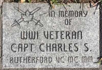 Charles Rutherford Memorial stone, Cenotaph, Colborne, Cramahe Township
