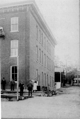 Detail of above photograph, Brunswick Hotel and Keeler House, Colborne, Cramahe Township