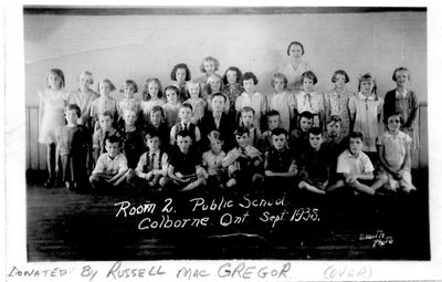 Class photograph, Colborne School, Room 2, Colborne, Cramahe Township, 1938