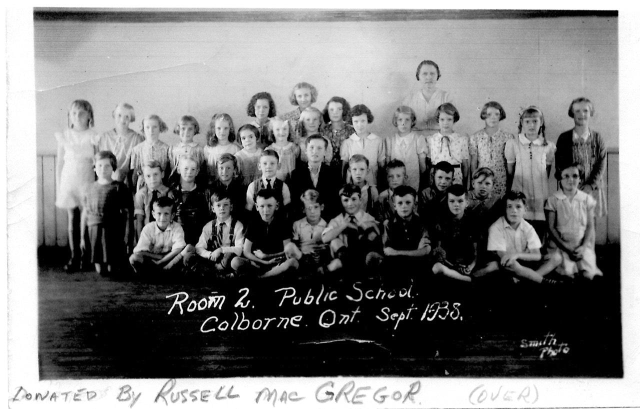 Photograph of Colborne School, Cramahe Township, 1938
