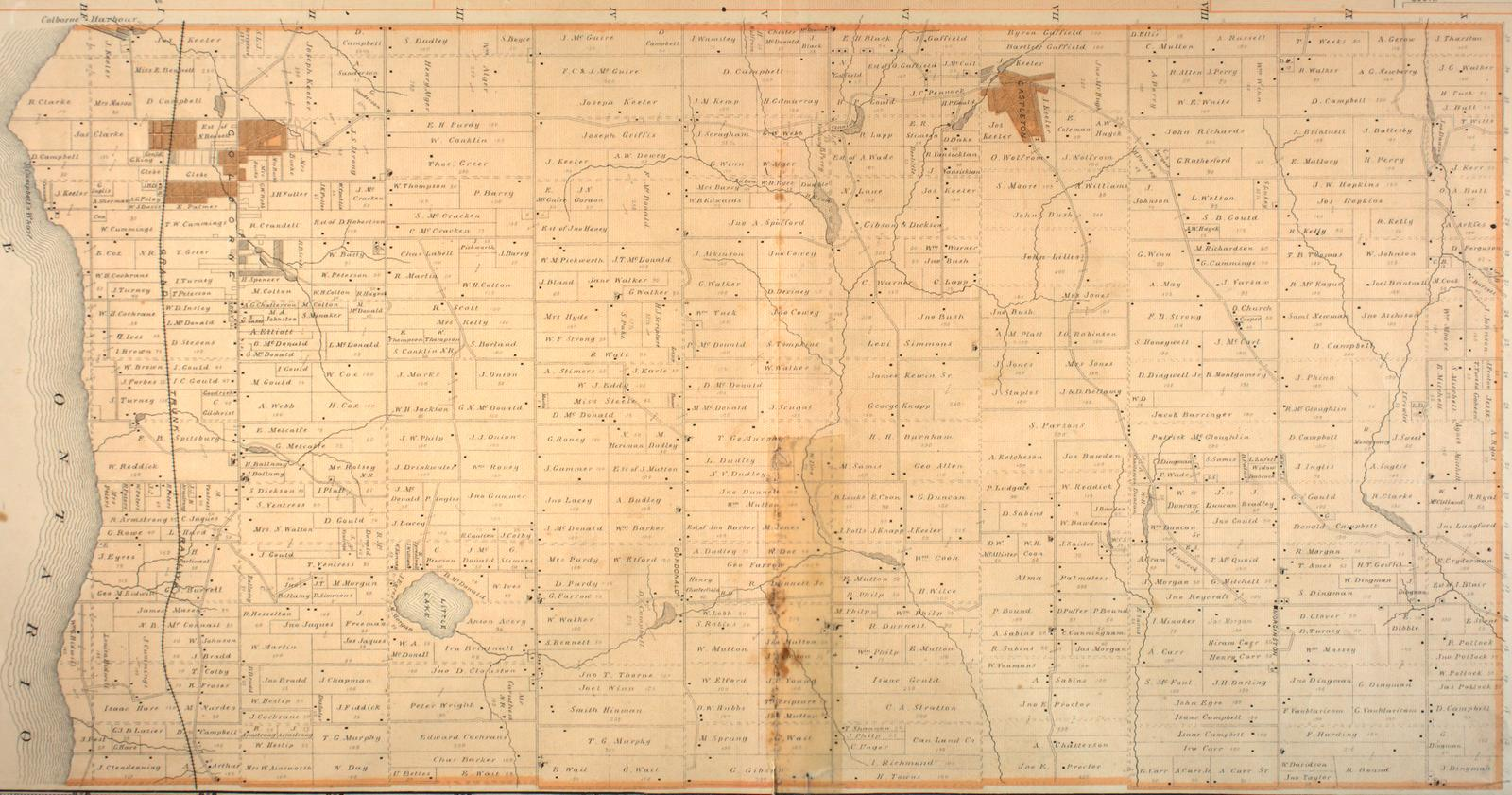 Map of Cramahe Township, 1878