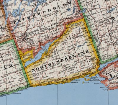 County of Northumberland, Province of Ontario, Department of Lands & Forests, 1950