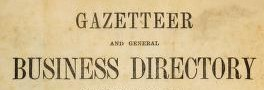 Gazetteers and Directories