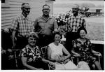Charles and Helen (Haig) Rutherford, Alex and Eliza (Chatterson) Rutherford, and Arthur and Marjorie Rutherford (Walker) Rutherford, Cramahe Township