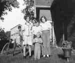 Bill Somerville, Ruth Lane, Jim and Audrey Blakely, and Carl Baptist, Cramahe Township