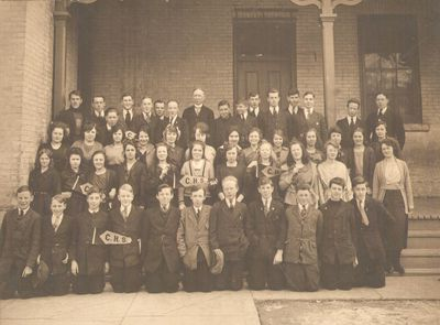 School photograph, Colborne High School, Cramahe Township, ca.1920