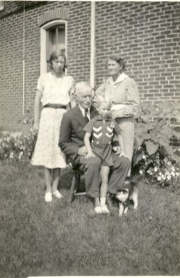 John, Lena, and Gertrude Coffee and Roger Reid, Cramahe Township