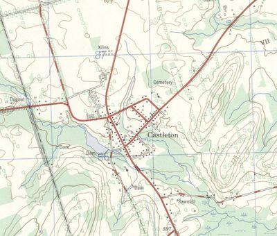 Castleton, ON. 1:25,000. Map sheet 031C04D, [ed. 1], 1970