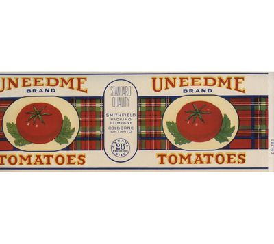 Uneedme can label, Smithfield Packing Company, Colborne, Cramahe Township