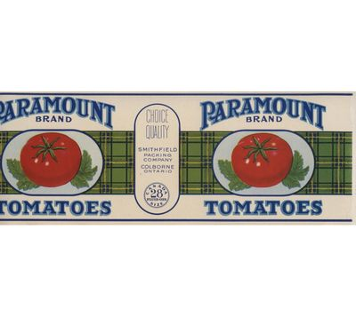 Paramount can label, Smithfield Packing Company, Colborne, Cramahe Township
