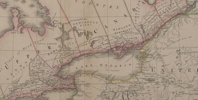 Cramahe Township map detail, A map of the province of Upper Canada describing all the settlements and townships &c. with the countries adjacent from Quebec to Lake Huron, 1818