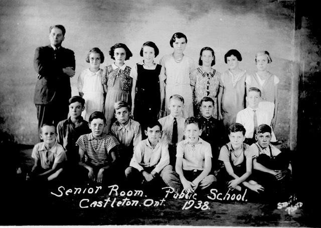 1938 Class photograph of seniors and Mr. J.C. McKague, Castleton School, Cramahe Township