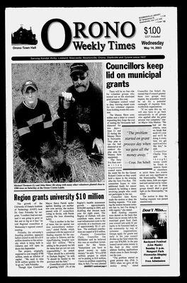 Orono Weekly Times, 14 May 2003