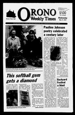 Orono Weekly Times, 21 May 2003