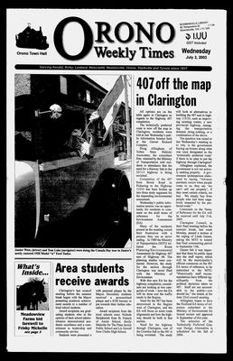 Orono Weekly Times, 2 Jul 2003