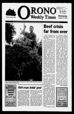Orono Weekly Times, 13 Aug 2003