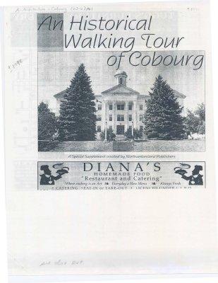 "<b>""A historical walking tour of Cobourg""<b>"