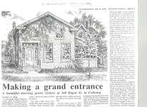 Article regarding William Floyd's home at 160 Bagot St.
