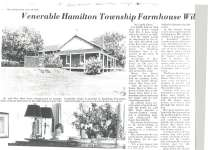 Article regarding the house built by Ira Smith in 1865.